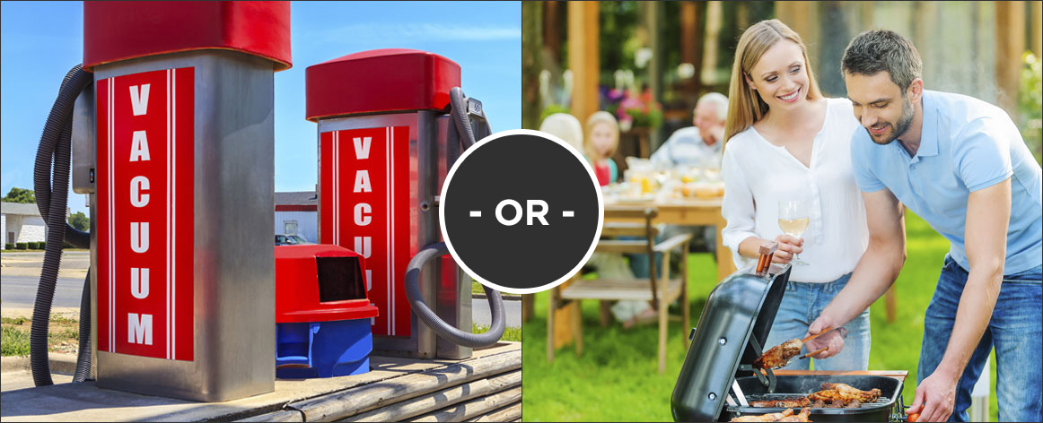 Would you rather Vacuum your car or BBQ with your family