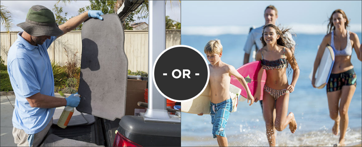 Would you rather Wash your mats or go to the beach